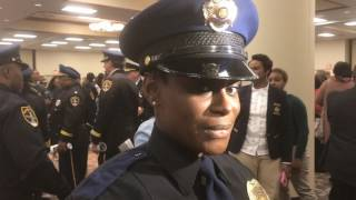 Newly-graduated Birmingham police Officer Bri