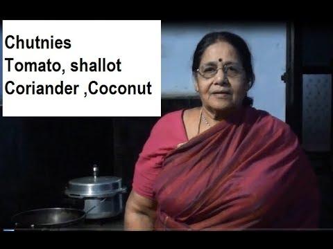 Chutney Varieties - Tomato, coriander, coconut and shallot
