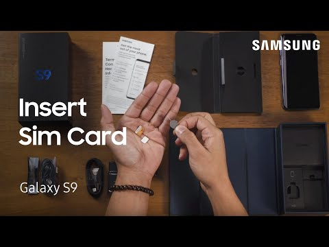Insert or Remove the SIM and SD Card on the Galaxy S9 S9+