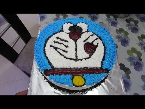 Eggless Doraemon Cake for Children in Hindi - Cake Decoration
