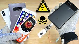 USB Killer vs Google Pixel 2, iPhone 8/X Fake & More! Instant Death?