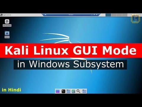 Kali Linux GUI Mode in Windows 10 Subsystem (WSL)   Install XFCE4 [Hindi]