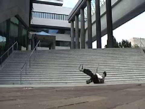 Tim Phang Fakie 720 attempt Canadian Embassy 22 Stair D.C. Rollerblading