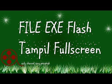 Membuat Tampilan EXE  Flash Fullscreen