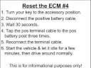 How to Reset the ECM
