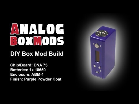 DNA 75/75c, 1x18650/1x20700 ABM-1 Enclosure DIY Box Mod Build