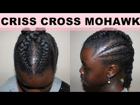 Quick and Easy Natural Hair Kids Teen Mohawk Hairstyle Back to School | Cornrows and Twists