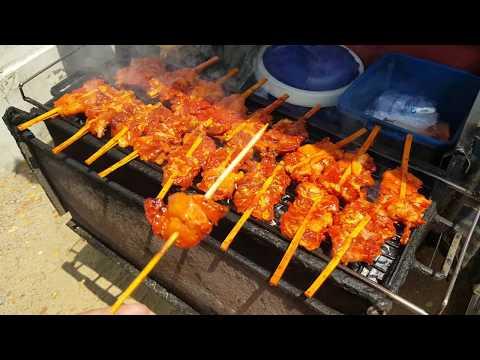 Red sauce grilled chicken