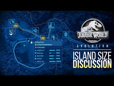 ISLA SORNA IS HUGE! MAP SIZE DISCUSSION | Jurassic World: Evolution Discussion