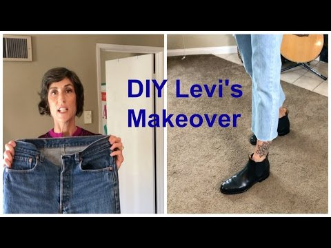 How To Bleach, Cut & Fray Jeans ~ DIY ~ I Makeover My Levi's
