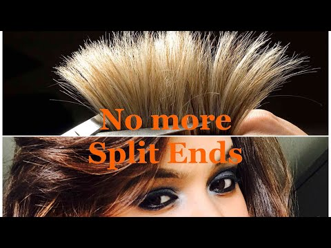 Split Ends Treatment | Get Rid Of Split Ends At Home | Without Losing Hair Length