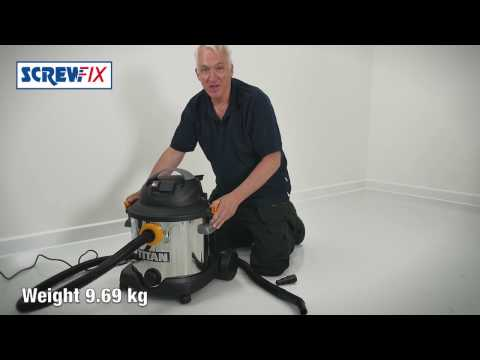 Titan TTB430VAC 1400W 30Ltr Wet & Dry Vacuum Cleaner 240V | Screwfix