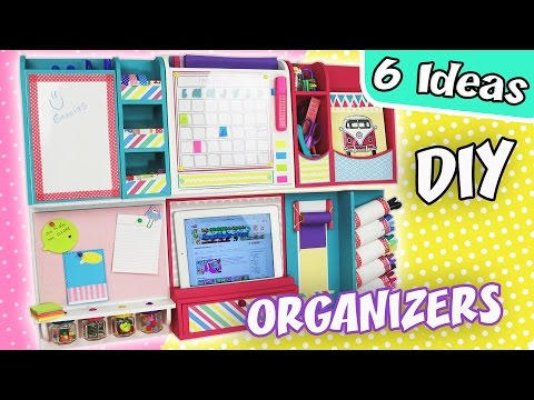 6 DIY IDEAS WALL ORGANIZERS | aPasos Crafts DIY