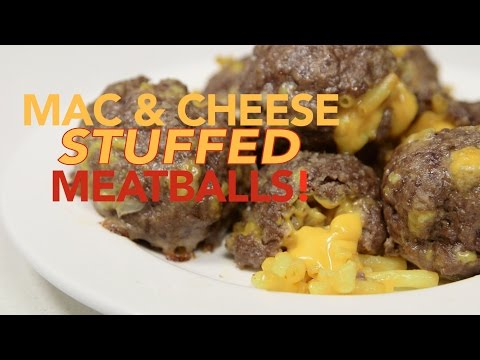 How to Make Meatballs Filled with Mac and Cheese (Full recipe)