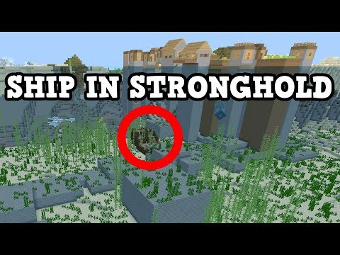 Minecraft PE / Xbox Seed - Stronghold IN A SHIP Seed! (Aquatic)
