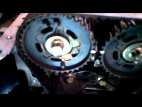 Timing belt replacement 1998 - 2003 Mazda Protege DOHC 1.6L water pump Install Remove Replace
