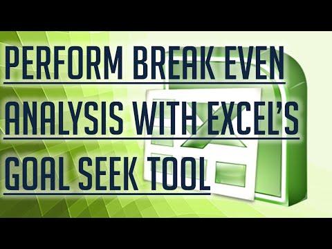 [Free Excel Tutorial] PERFORM A BREAK EVEN ANALYSIS WITH EXCEL'S GOAL SEEK TOOL - Full HD