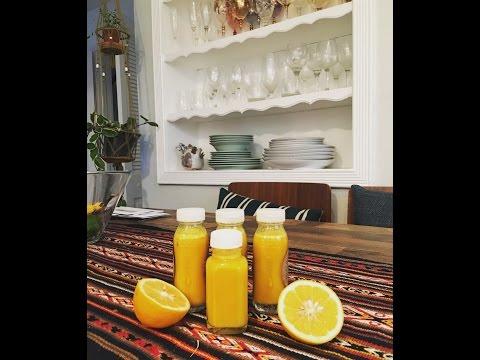 How to make Ginger, Lemon and Turmeric Shots