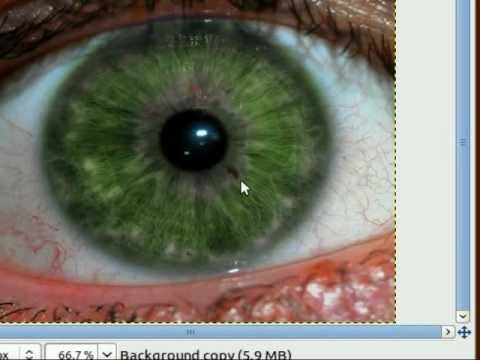 Gimp- Professional Eye Color Change (Realistic High Resolution Images)
