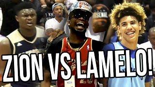 LaMelo Ball VS Zion Williamson in Front Of Damian Lillard, Lonzo Ball, OSN & RIDICULOUS CROWD!