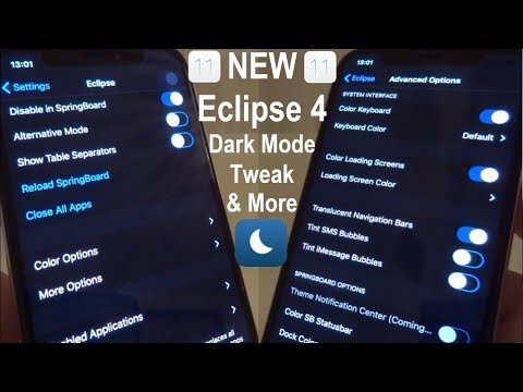 NEW How To Install Eclipse 4 FREE iOS 11 - 11.1.2 Dark Mode Tweak & More On iPhone, iPad, iPod Touch