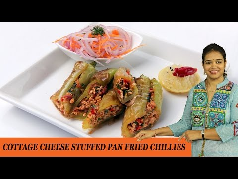COTTAGE CHEESE STUFFED PAN FRIED CHILLIES - Mrs Vahchef