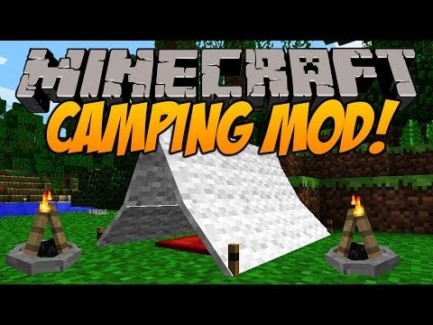 Minecraft Camping Mod! - Roast Marshmallows, Craft Tents, Fires and More! - Mod Spotlight! [1.6.4]