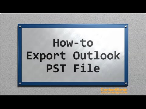 Exporting an Outlook PST file
