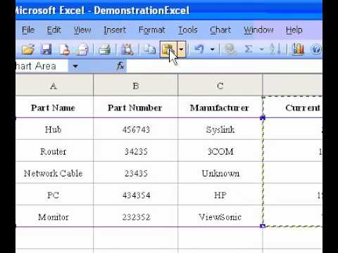 Microsoft Office Excel 2003 Adding chart data