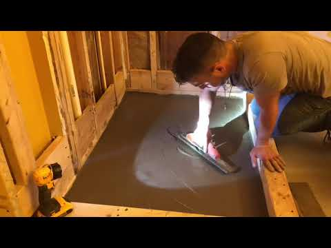 How to make a shower pan pre-pitch slope tile job