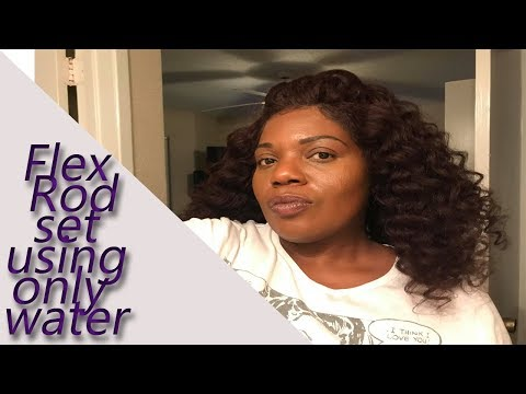 Flexi Rod Set using only Water On The Best Kinky Blow Out Full Lace Wig | HerGivenHair |