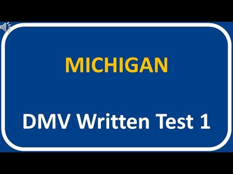 Michigan DMV Written Test 1