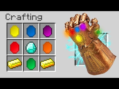 HOW TO CRAFT THE INFINITY GAUNTLET IN MINECRAFT!