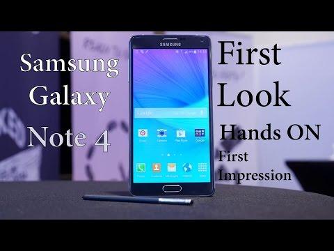 Samsung Galaxy Note 4 : First Look
