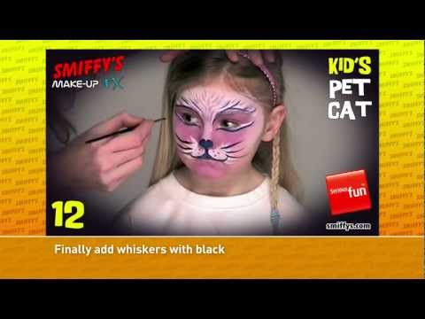 Cat Face Painting Make-up Tutorials for Children