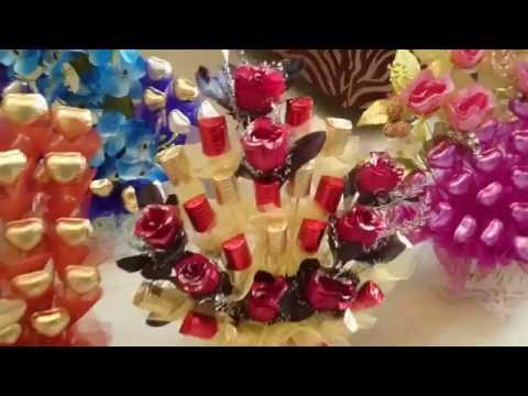 A Square Chocolate Bouquets
