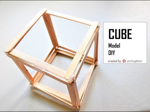 Platonic Solid: Cube Popsicle Sticks