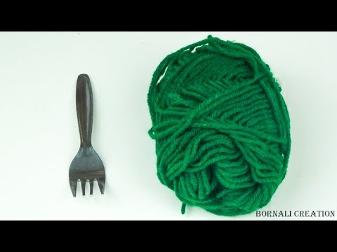 how to make diy earrings easy with woolen thread|diy earring video tutorial by bornali creation
