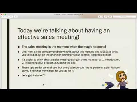 How to do an effective sales meeting