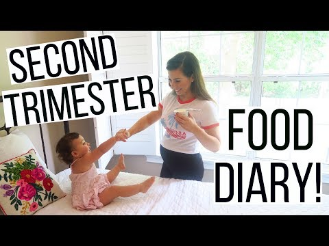 WHAT I EAT IN A DAY PREGNANCY EDITION   SECOND TRIMESTER FOODS TO EAT   Hayley Paige