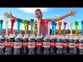 COKE AND MENTOS VS Silly WATER BALLOONS Project!