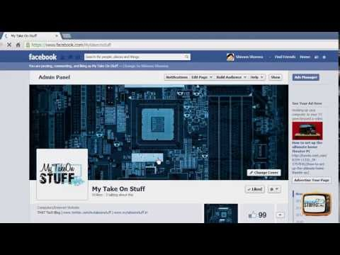 How To Change Facebook Page Name and Username - 2013