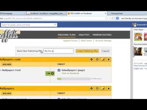 How to publish rss feed to Facebook