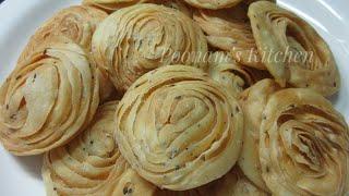 Crispy Verki Puri Recipe - Diwali Special Snacks - Tea Time Snacks - Easy Three Layer Puri