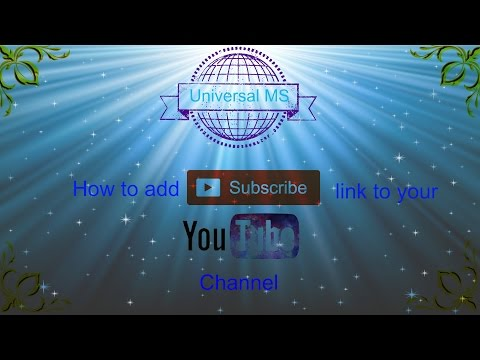 how to add  subscribe link to your youtube channel
