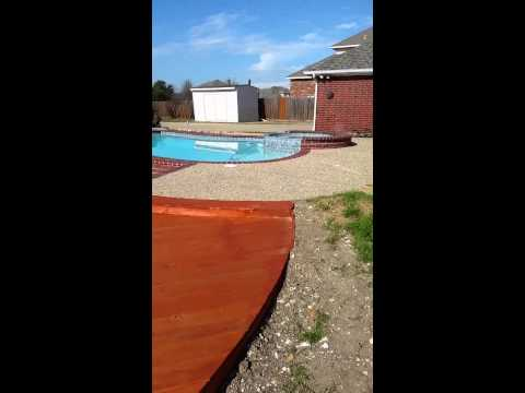 Pressure treated pool deck by Dockmaster USA