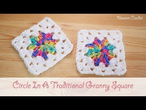 Easy Crochet - Circle in a Granny Square