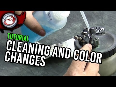 Airbrush Color Changes and Cleaning (Airbrushing Intermetiate Part 3)