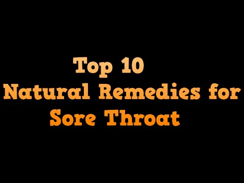 top 10 natural remedies for sore throat - gargle with warm salt water, Turmeric,Cayenne