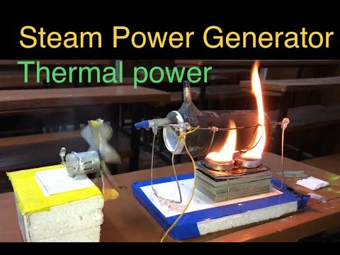 How to make Thermal power plant | Steam power Generator